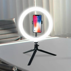 "10"" LED Ring Super Light Lamp Selfie Camera Phone Studio Photo V one size"