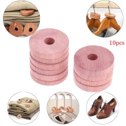 10Pcs Cedar Wood Cedar Ring Wardrobe Pure Insect Repellent Camph one size