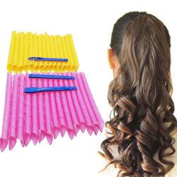 10PCS Hairstyle Roller Sticks  Portable DIY Magic Hair Curler Cu 1(45CM)