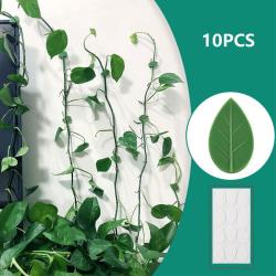 10st växtfäste klipp växt klättringsvägg självhäftande faste onesize