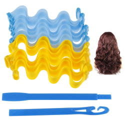 12Pcs Magic Long Hair Curlers Curl Formers Leverage Rollers Spir onesize