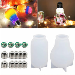 16PCS/Set LED Bulb Mold Resin Casting Mold Silicone Craft Resin one size