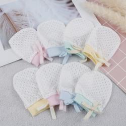 1 par nyfödda babyvantar baby bomulls anti-poäng handskar