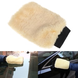 1Pc Microfiber plush car soft mitten detailing washing glove cl One Size