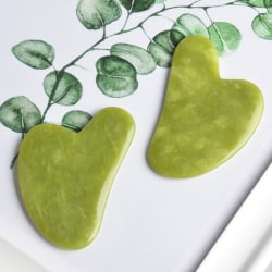 1PC Natural Guasha Facial Jade Face Body Care SPA Gua Sha Board onesize