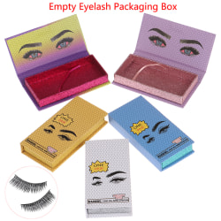 1Pcs Empty False Eyelash Packaging Storage Box Case Holder Pack White