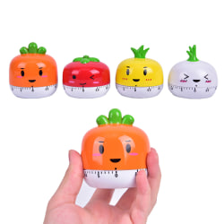 1PCS New Kitchen Timer Plastic Mechanical Timer Reminder Kitche Orange