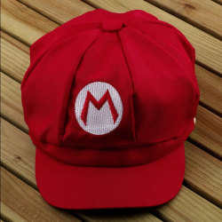 1PCS Super Mario Bros Hat Mario Luigi Cap Cosplay Sport Wear Re Red