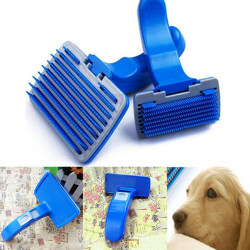 1X Pet Dog Cat Grooming Self Cleaning Slicker Brush Comb Hair F