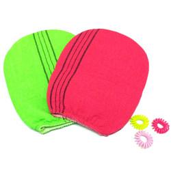2 colors Korean Italy Exfoliating Body-Scrub Glove Towel Green  onesize
