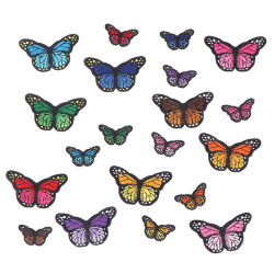 20pcs butterfly ironing patches Embroidered sewing ironing Deca one size