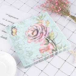 20PCS Napkins paper Decoupage Tissue Flowers Wedding Birthday DI one size