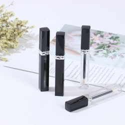 2x Lip Gloss Tubes Empty Lip Glaze Bottle DIY Lip Gloss Refillab Black