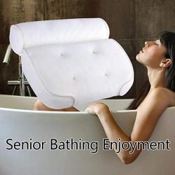 3D Mesh Spa Non-Slip Cushioned Bath Tub Spa Pillow Bathtub Head  one size