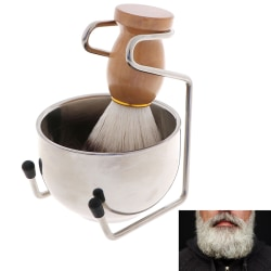 3In1 Clean Tool Shave Frame Soap Bowl Bristle Hair Shave Brush S one size