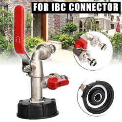 3x IBC vattentå tankadapter Grov tråd Trädgårdsslang Connec