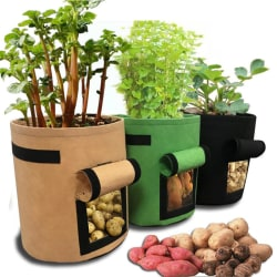 4 Gallon Root Plant Growing Bag Vegetable Potato Pot Aeration B Black