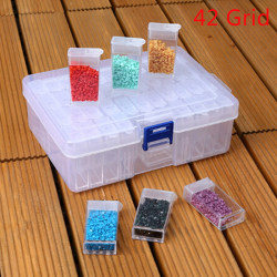 42 Slots Embroidery Diamond Painting Storage Box Case Nail Art  one size