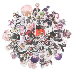 50st Anime Danganronpa PVC klistermärke för bagage Laptop Skateboa