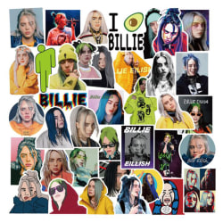50pcs Pack Waterproof Billie Eilish Singer Stickers Motorcycle  random color