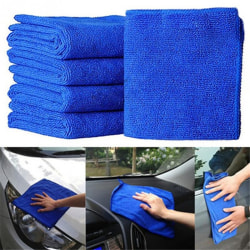 5Pcs Durable Microfiber Cleaning Auto Soft Cloth Washing Cloth  one size