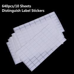 640st Distinguish Label Stickers Diamond Klassificering Storag