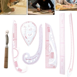 7 multifunction curve ruler drawing sewing clothes design tailor one size