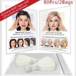 80Pcs/ Set Invisible Thin Facial Line Wrinkle Skin V Face Lift T one size