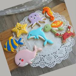 8st / set Sea Creature Cookie Cutter Mini Cookie för DIY-bakning