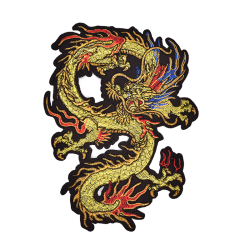 Applique Embroidery Dragon Patches for Clothing Coat Iron On Sew 23cmx16cm