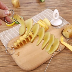 Grilltillbehör Stålspett Grill Shish Kabob Potato Spiral C