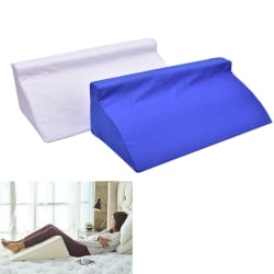 Bed Triangle Pillow Foam Body Positioner Elevate Support Back N Blue