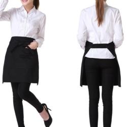 Black Bust Waiter Short Förkläde Kök Restaurang Flirty With Po
