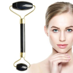 Black Jade Roller Face Massage Double Head Face Massager Natural Black