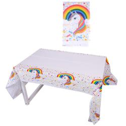 Cartoon Rainbow Unicorn bordsduk Barn födelsedagsfest leverans