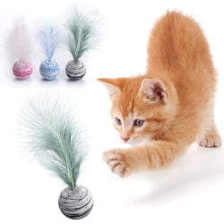 Cat Toy Star Ball Plus Feather EVA Material Funny Interactive To Red