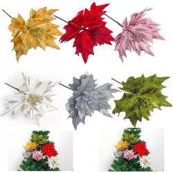 Christmas simulation Leaves dusting leave flower arrangement Chr Red
