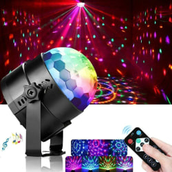 Disco ball lighting effects RGB 3W LED 7 Color Stage  remote con one  size