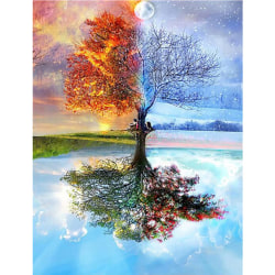 DIY 5D Diamond Embroidery Painting Cross Stitch Mosaic Seasons T 30*40CM