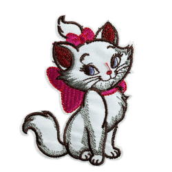 embroidered patch iron/sew on Lovely cat Cloth badge applique