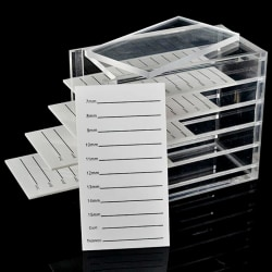 False Eyelashes Storage Box 5 Layers Acrylic Pallet Lash Holder  one size