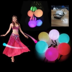 Flashing Glow LED Ball POI Thrown Balls Handball Up For Belly Da