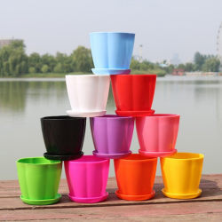 Flower Pots and Trays,Plastic Pots,Creative Small Pots for Succ A1