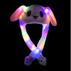 Funny Hat Women Kids Lighting Hat Cute Rabbit Ears Plush Ears C P1