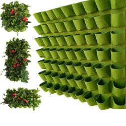 Green Vertical Hanging Garden Planter Flower Pots Bag Wall Moun Large