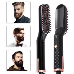 Hair Straightener Men's Brush Beard Comb Multifunctional Curling EU