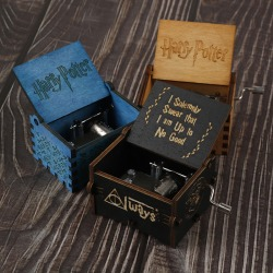 Harry Potter Game Of Thrones Game Box Wood Game Clock Music Box  Black one size