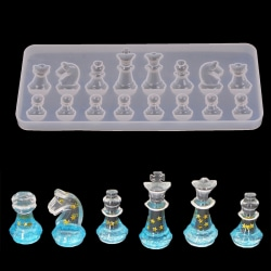 International chess shape silicone mold diy clay epoxy resin mo one size