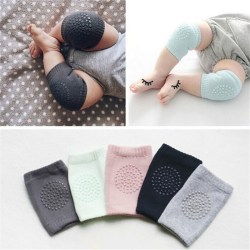 Kids Soft Anti-slip Elbow Cushion Crawling Knee Pad Infant Toddl Light Grey One Size