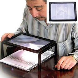Large A4 Page Hands Free 3x Magnifying Glass With Light LED Magn